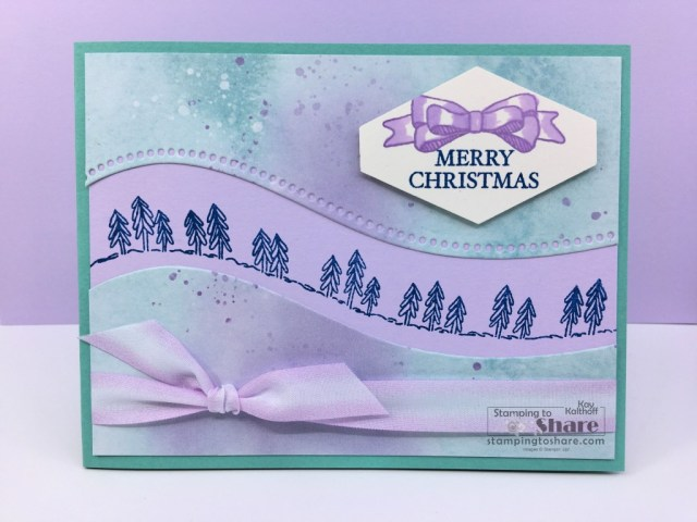 Stampin' Up! Curvy Christmas with Curvy Dies and Snowflake Splendor Designer Series Paper created by Kay Kalthoff with Stamping to Share