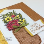 Jar of Flowers Birthday Card by Kay Kalthoff using Stampin