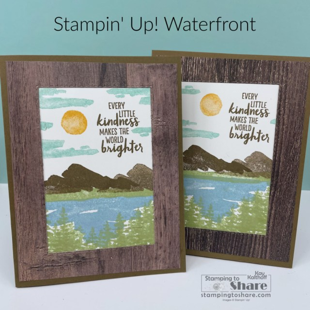 Stampin' Up! Waterfront Scenic Card by Kay Kalthoff with Stamping to Share