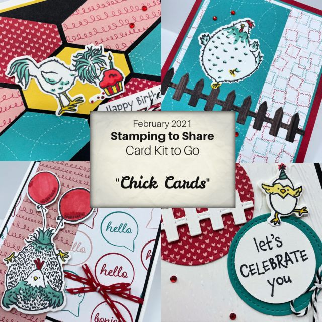 Hey Birthday Chick from the Chick Camp Card Kits to Go by Kay Kalthoff with Stamping to Share
