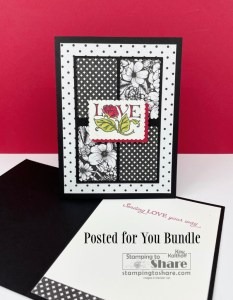 Stampin' Up! Posted for You with True Love DSP