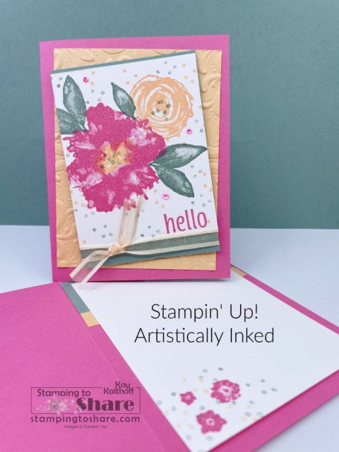 Artistically Inked for mid-summer card making created by Kay Kalthoff with Stamping to Share using Stampin' Up! products.
