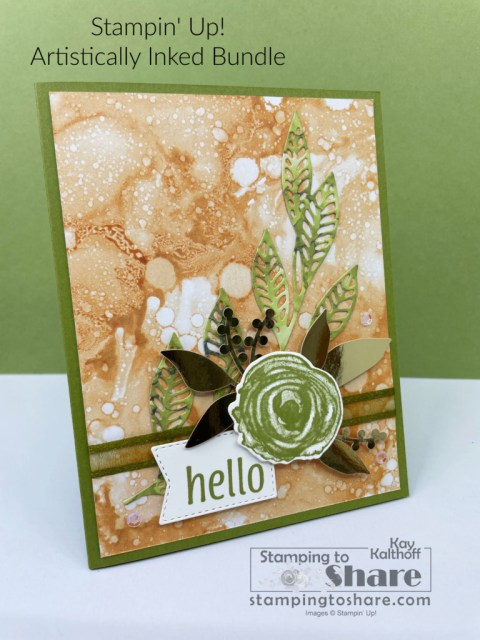 Artistically Inked Bundle from Stampin' Up! Card created by Kay Kalthoff with Stamping to Share