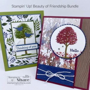 Stampin' Up! Beauty of Friendship for making Summer and Fall Cards