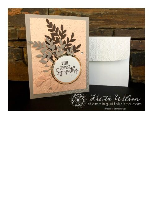 The envelope dry embossed with the Tine Tile 3D Embossing Folder adds a special touch!