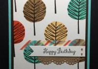 Hand Stamped Fall Birthday Cards for Men