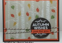 Happy Thanksgiving With an Autumn Wishes Card