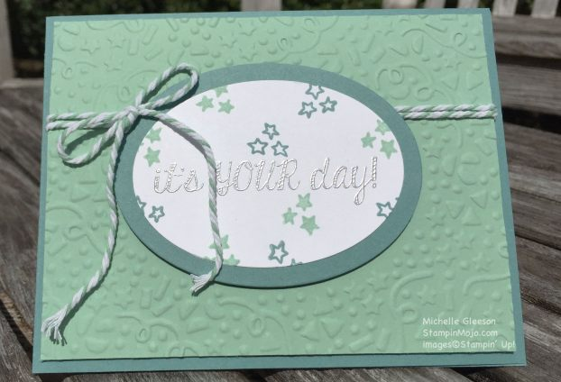 SU Fabulous Four, StampinMojo, Birthday card, Confetti Embossing Folder