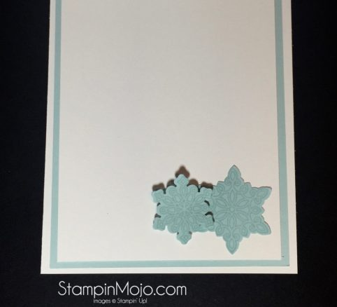 Stampin Up, Flurry of Wishes, PPA 312 entry, inside peek, Michelle Gleeson