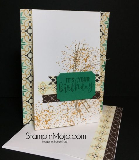 Stampin Up Moroccan Washi Tape Gorgeous Grunge Birthday card Michelle Gleeson Stampinup
