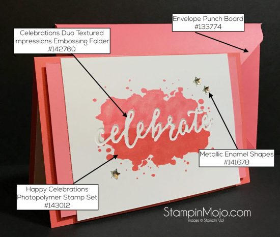 Stampin Up Happy Celebrations Envelope Punch Board Celebrations Duo Michelle Gleeson Stampinup SU