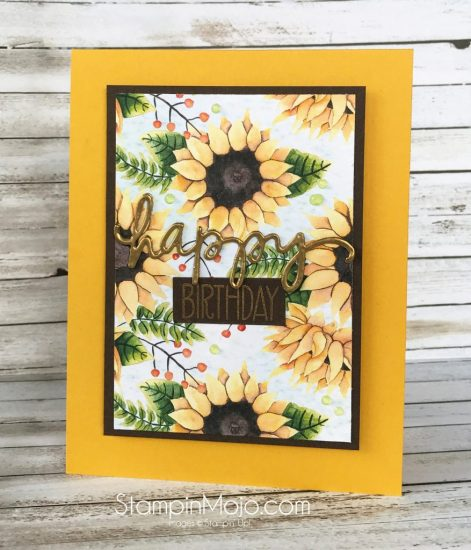 Stampin UP Painted Autumn DSP, Avery Elle Handwritten Notes, Birthday card ideas Michelle Gleeson Stampinup SU