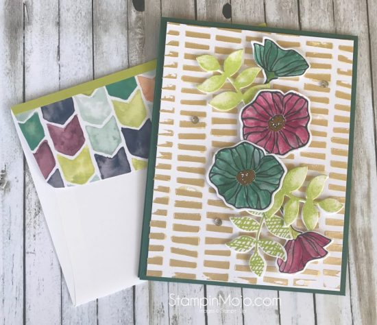 Stampin Up Oh So Eclectic Bundle Embossing Paste Birthday Card Idea Michelle Gleeson Stampinup SU