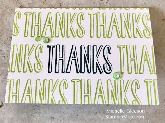 Concord&9th Many Thanks Turnabout Thank You card ideas Michelle Gleeson