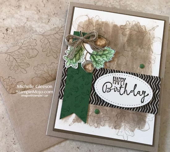 Stampin Up Count My Blessings Painted Autumn DSP Special Celebrations Birthday Card idea Michelle Gleeson Stampinup