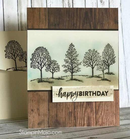 Stampin Up Lovely as a Tree Masculine Birthday card Michelle Gleeson Stampinup SU