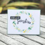 Hello Sunshine for Inspire Create Challenge #18
