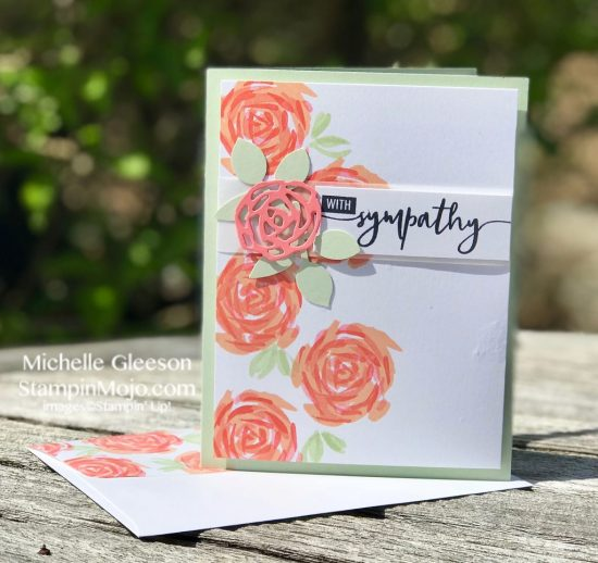 Stampin Up Abstract Impressions Bundle Sympathy Card Michelle Gleeson Stampinup SU