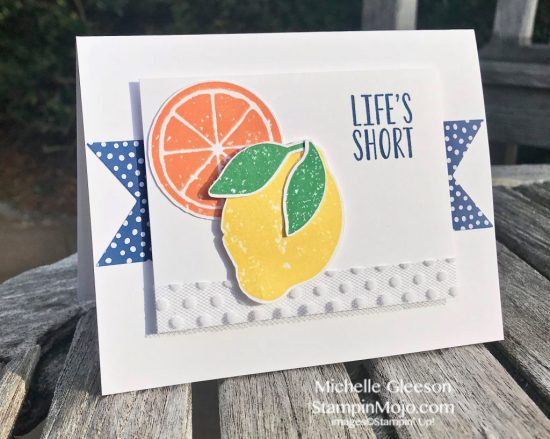 Stampin Up Lemon Zest 2018-2020 In Colors TGIFc163 Inspire Create Challenge #19 Stampinmojo Michelle Gleeson Stampinup SU