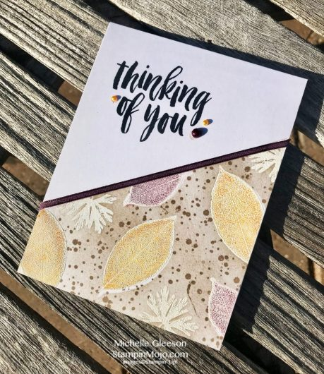 Stampin Up Rooted in Nature GDP#140 Thinking of You card idea Michelle Gleeson Stampinup SU