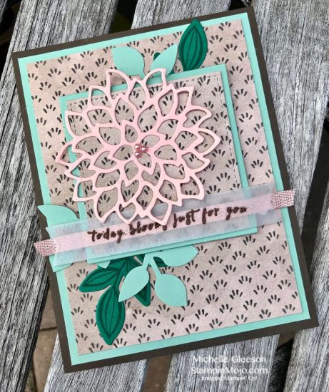 Stampin Up GDP#148 May Flowers Leaf Punch Falling Flowers Birthday Card Ideas Michelle Gleeson Stampinup SU