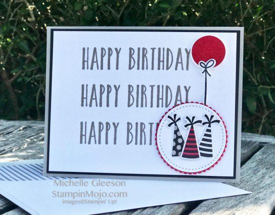 Stampin Up GDP#150 Perennial Birthday Broadway Birthday Suite Masculine Bithday card idea Michelle Gleeson Stampinup SU