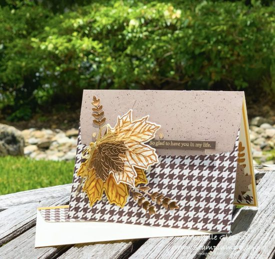 Stampin Up PALS August Blog Hop Gather Together Stamp Set Gilded Autumn DSP Gathered Leaves Dies Anytime Cards Michelle Gleeson Stampinup SU