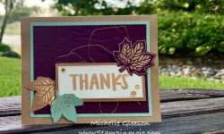 Stampin Up TheSpotChallenge#124 GDP#254 Gathered Leaves Dies Hot Foil Stamp Market Lots of Thanks Stamp Set Thank you card ideas Michelle Gleeson Stampunup SU