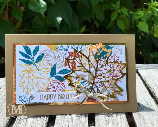 Concord & 9th Thankful Leaves Turnabout Poppy Stamps Birthday Blowout Masculine Birthday Cards Michelle Gleeson