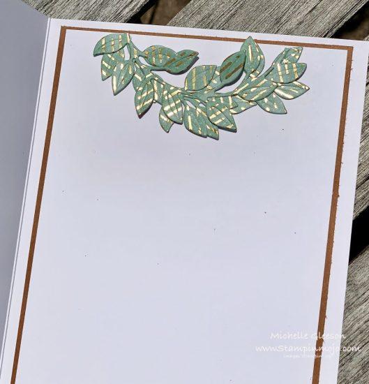 Stampin Up PALS Blog Hop Guilded Sutumn DSP Arrange a Wreath Dies Birthday Card Michelle Gleeson Stampinup SU