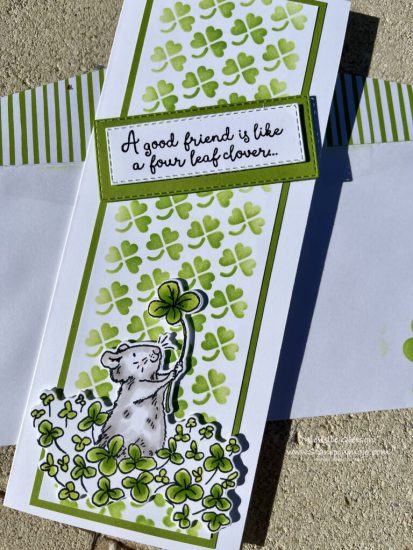 Colorado Craft Company 4 Leaf Clover Friendship Card Idea Michelle Gleeson The Spot Challenge #151