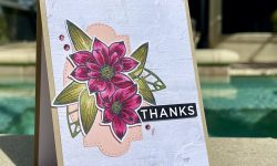 Stampin Up Delicate Petals Bundle Thank you card idea Michelle Gleeson FMS#474 Stampinup SU