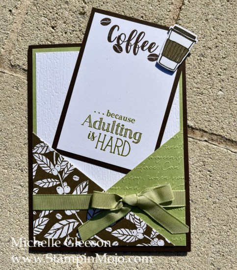 Coffee Lovers Card Michelle Gleeson Design by Jeanie Stark