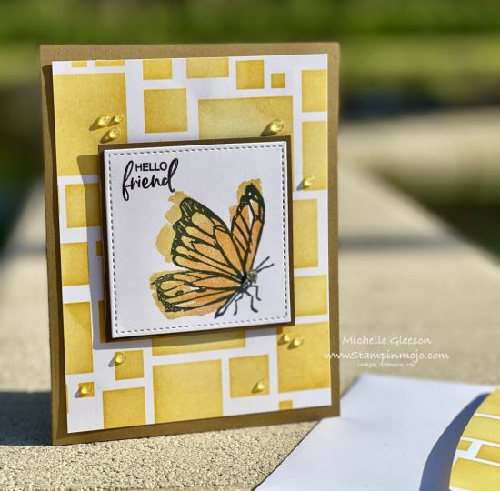 Stampin Up Touch of Ink SSS Stencil background Anytime card ideas Michelle Gleeson Stampinup SU