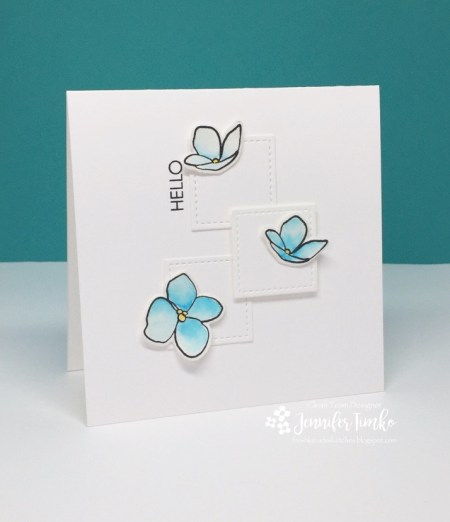 FMS282 by Jen Timko | Mondo Hydrangea and Lovely Stamp Sets by Ellen Hutson, Zig Clean Color, Watercolor