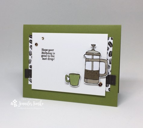 FMS294 by Jen Timko | Coffee Break DSP by Stampin' Up, Funny Coffee Stamp by Skipping Stones Designs