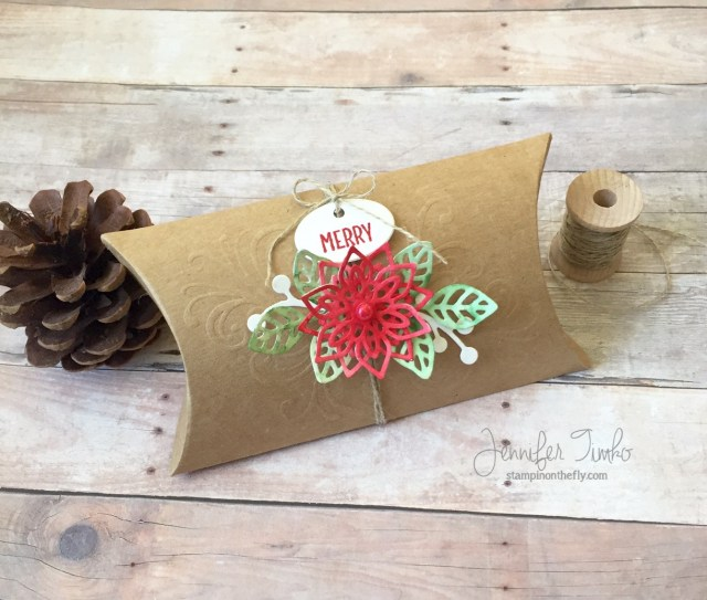 Fancy Friday 3D by Jen Timko   Flourish Thinlits by Stampin' Up, Pillow Box by Paper Pumpkin, Merry Café Stamp Set and Coffee Cups Framelits by Stampin' Up