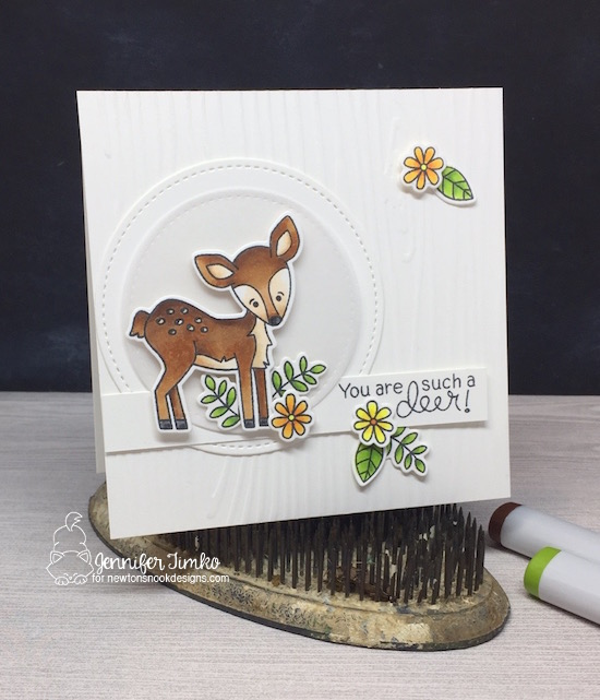 Such a Deer, FMS320 by Jen Timko | Deer Friend Stamp Set and Dies by Newton's Nook Designs, Copic Coloring