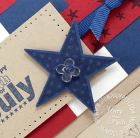 Stampin up star punch bitty button