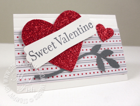 Stampin up valentine card heart something to celebrate