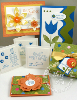 Stampin pretty spring flowers all 2