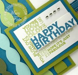 Stampin up delightful dozen rubber stamps birthday card blog idea