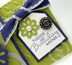 Stampin up tag punch petit pairs rubber stamp birthday card