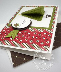 Stampin up rubber stamp pennant parade punch note card holiday ideas