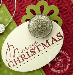 Stampin up holiday contempo christmas card idea oval punch