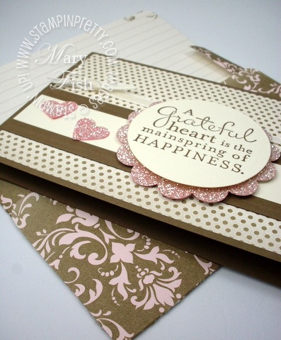Stampin up punch heart thank you card idea simply scored scoring tool