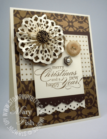 Stampin up mojo monday punch demonstrator video tutorial holiday card