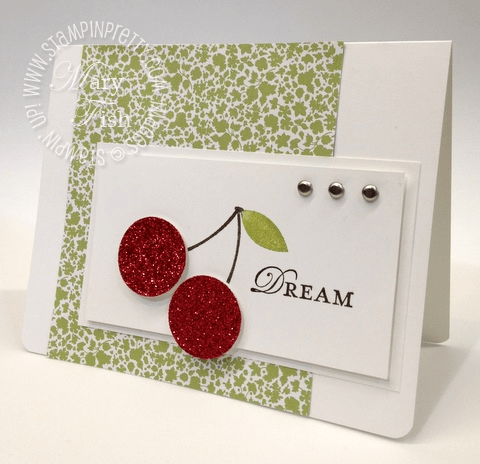 Stampin up rubber stamps occasions mini catalog circle punch card idea