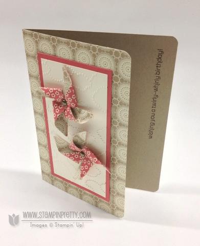 Stampin up stampinup pretty order pinwheel die birthday card ideas spring catalog