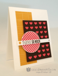 Stampin Up thank you card idea hearts border punch by Mary Fish StampinUp Demonstrator